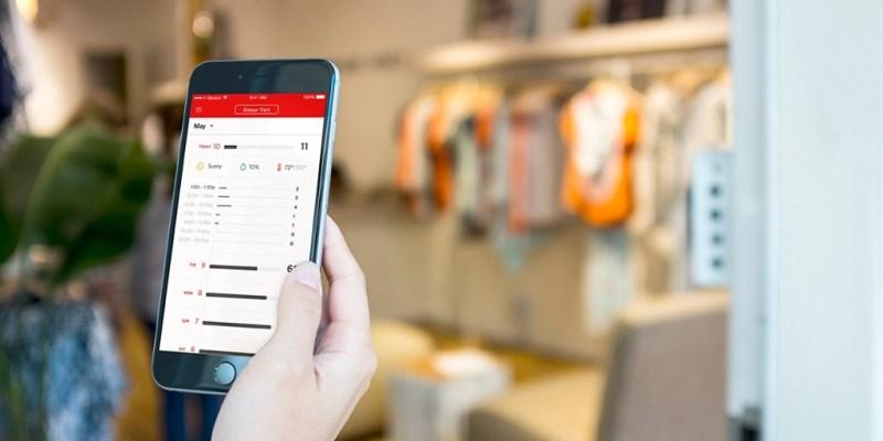 Dor retail traffic analytics mobile UI