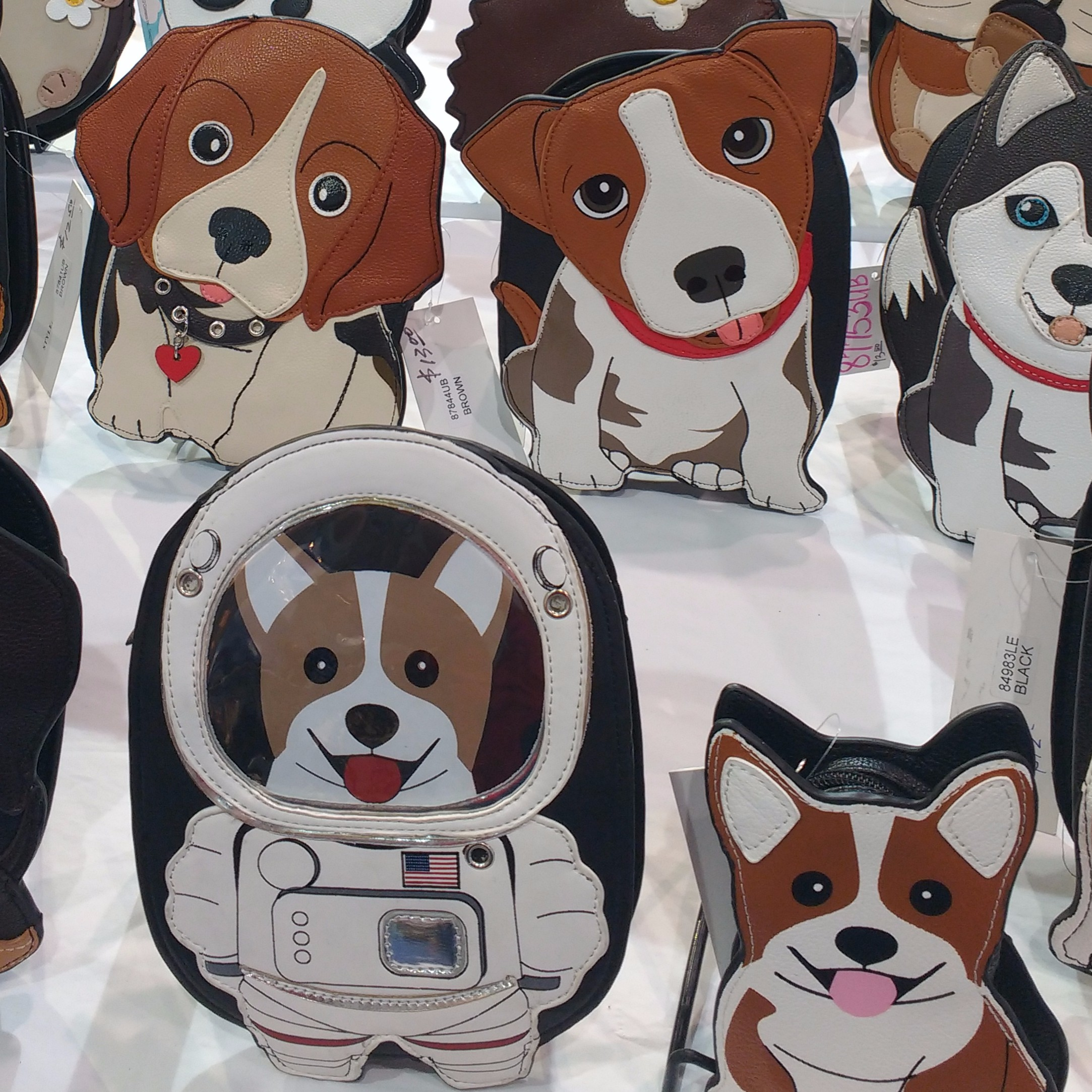 Puppy purses at ASD Market Week